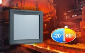 Panel PC industrial con rango extendido de temperatura